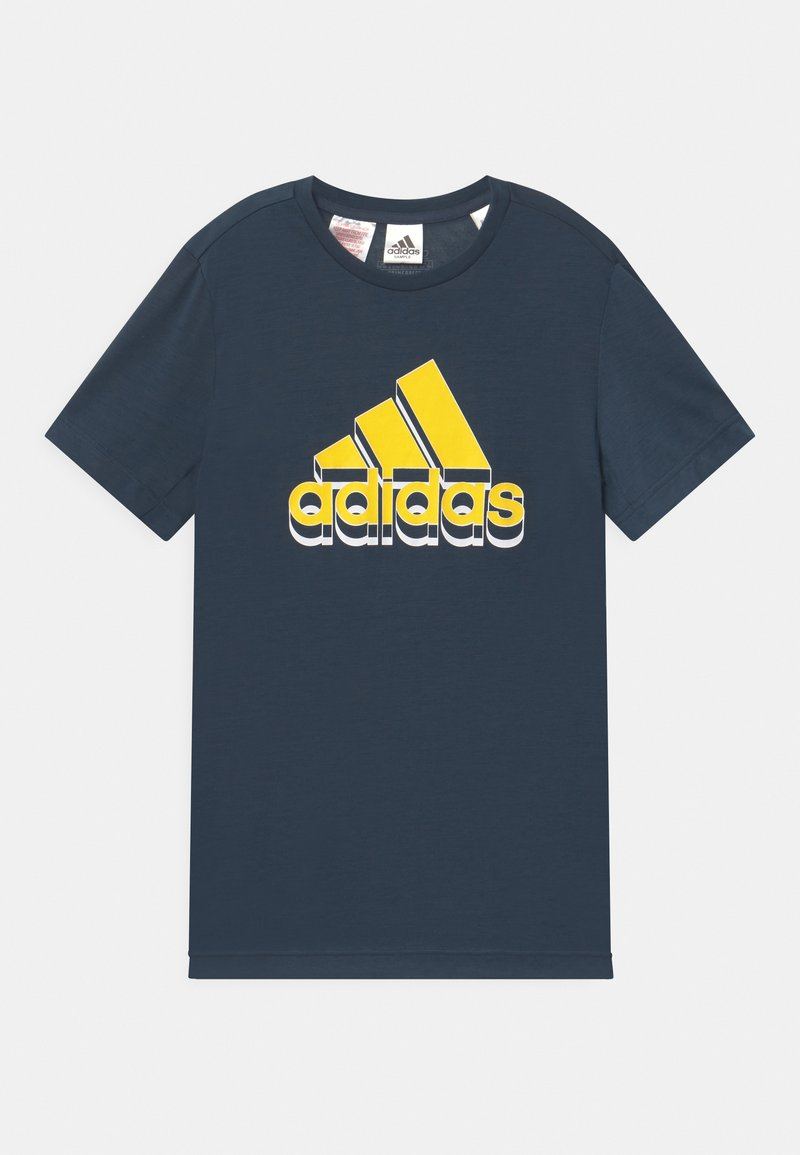 adidas Performance - UNISEX - Triko s potiskem - dark blue/yellow