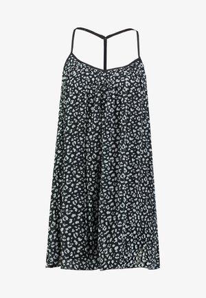 PLEATED SHIFT DRESS - Day dress - black/white