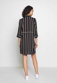 ONLY - ONLTAMARI DRESS - Shirt dress - black/white/camel stripe - 2