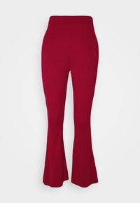 Leggings - Flared Leg Trousers - Leggings - red