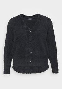 FLUFFY V NECK  - Cardigan - black