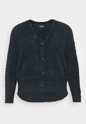 FLUFFY V NECK  - Cardigan - black