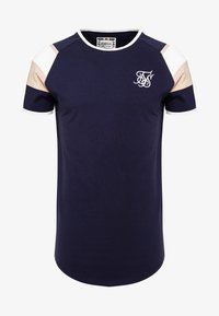 SIKSILK - SPRINT GYM TEE - T-shirts med print - navy/pink/white - 3