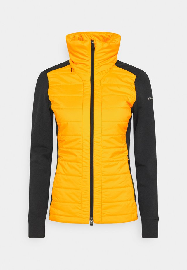 WOMEN MUNDIN MIDLAYER JACKET - Fleecejas - black mel/gold honey yellow