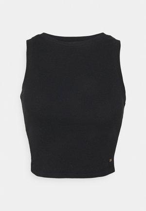 HIGH NECK BOYTANK - Top - black