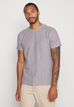 WAFFLE STRIPE - Print T-shirt - grey