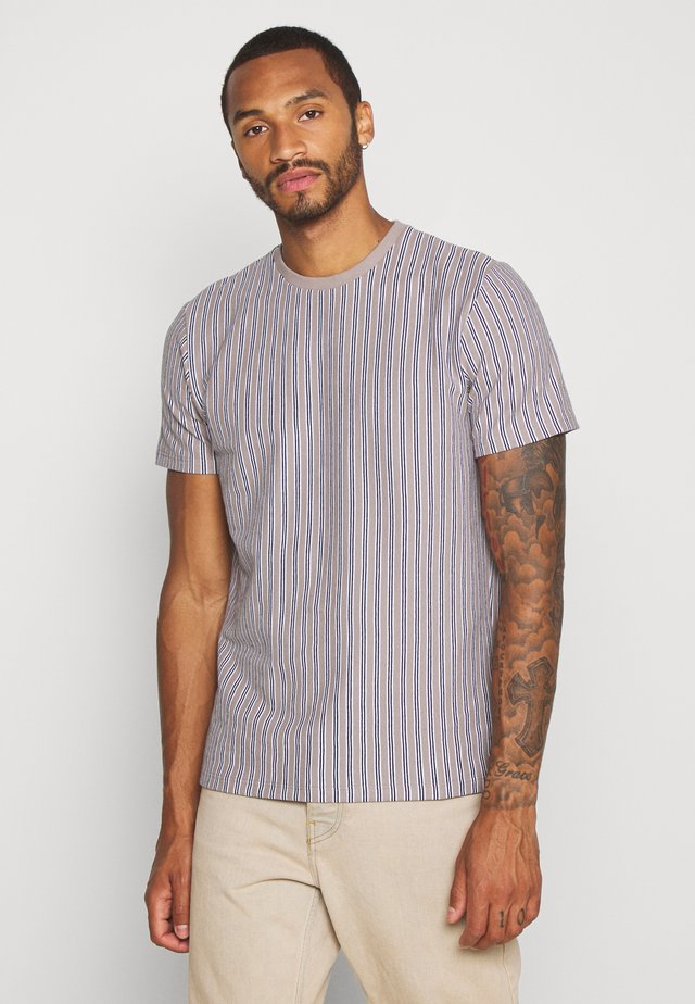 WAFFLE STRIPE - T-shirt con stampa - grey