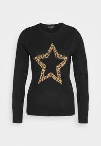 ANIMAL STAR CREW NECK JUMPER - Trui - black