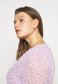 Glamorous Curve - SHEER LONGSLEEVE DRESS - Korte jurk - lilac lavender - 5