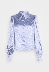 Monki - NALA BLOUSE - Button-down blouse - blue - 4