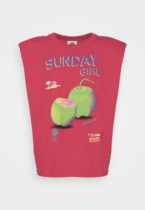 SUNDAY GIRL GRAPHIC - T-shirts med print - red
