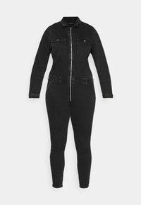 ONLY Carmakoma - CARCALLI ZIP - Jumpsuit - black denim - 7