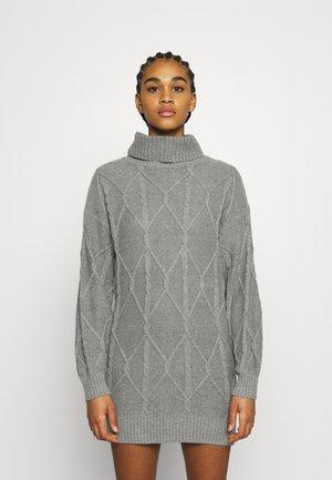 ECLECTIC DRESS - Strikket kjole - medium grey