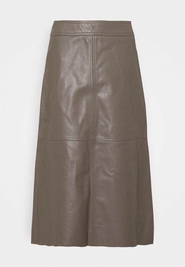 ELOISE - A-line skirt - walnut