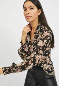Vila - Button-down blouse - black - 3