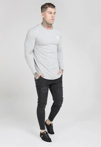 SIKSILK - GYM TEE - Long sleeved top - grey marl - 1