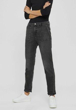 BOYFRIEND AUS ORGANIC - Jeans slim fit - black denim