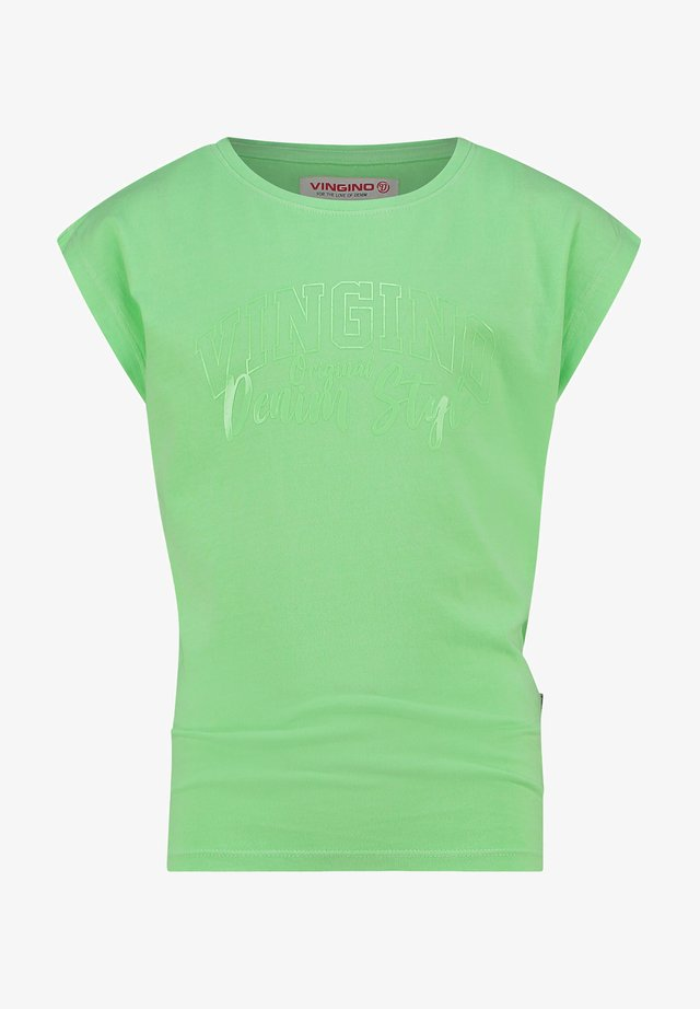 T-Shirt print - fresh neon green