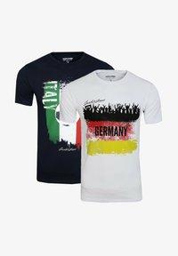 Jack & Jones - 2 PACK - Print T-shirt - white - 0