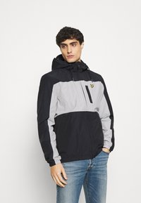 Lyle & Scott - COLOUR BLOCK ZIP THROUGH JACKET - Summer jacket - dark navy - 0