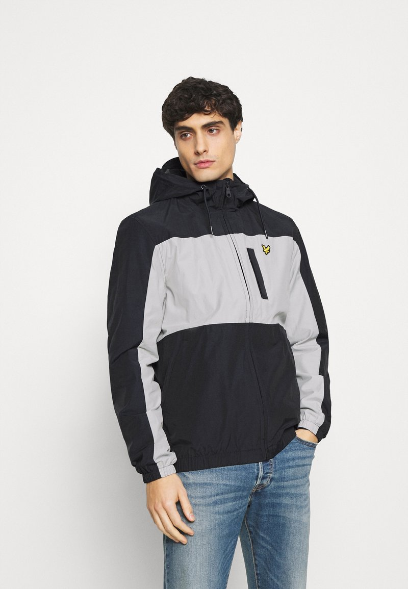 Lyle & Scott - COLOUR BLOCK ZIP THROUGH JACKET - Summer jacket - dark navy