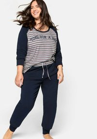 Sheego - Pyjama set - marine gestreift - 0