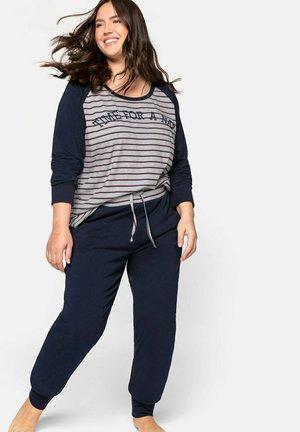 Pyjama set - marine gestreift