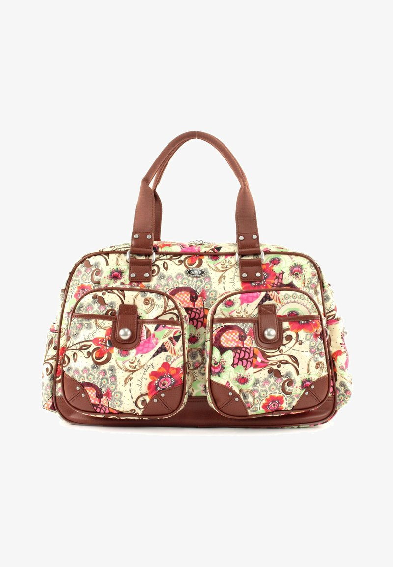 Oilily - TROPICAL BIRDS - Weekend bag - off white