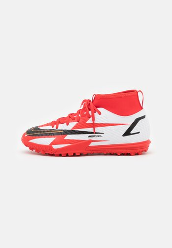 MERCURIAL JR 8 ACADEMY CR7 TF UNISEX - Astro turf trainers - chile red/black/white/total orange