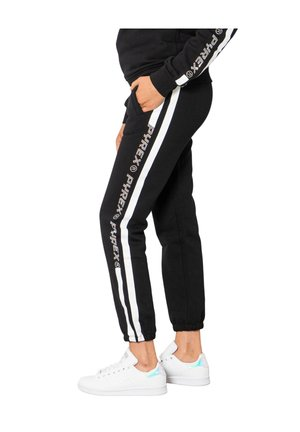 LOGO BRILLANTINI LATO GAMBA - Pantaloni sportivi - black