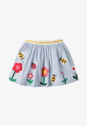 MIT SZENENAPPLIKATION - Mini skirt - faux-uni, blumen/bienen