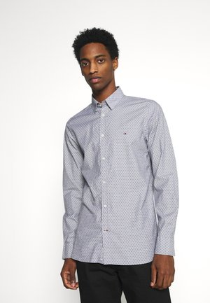 SLIM DOTTED SQUARE PRINT - Camisa - yale navy