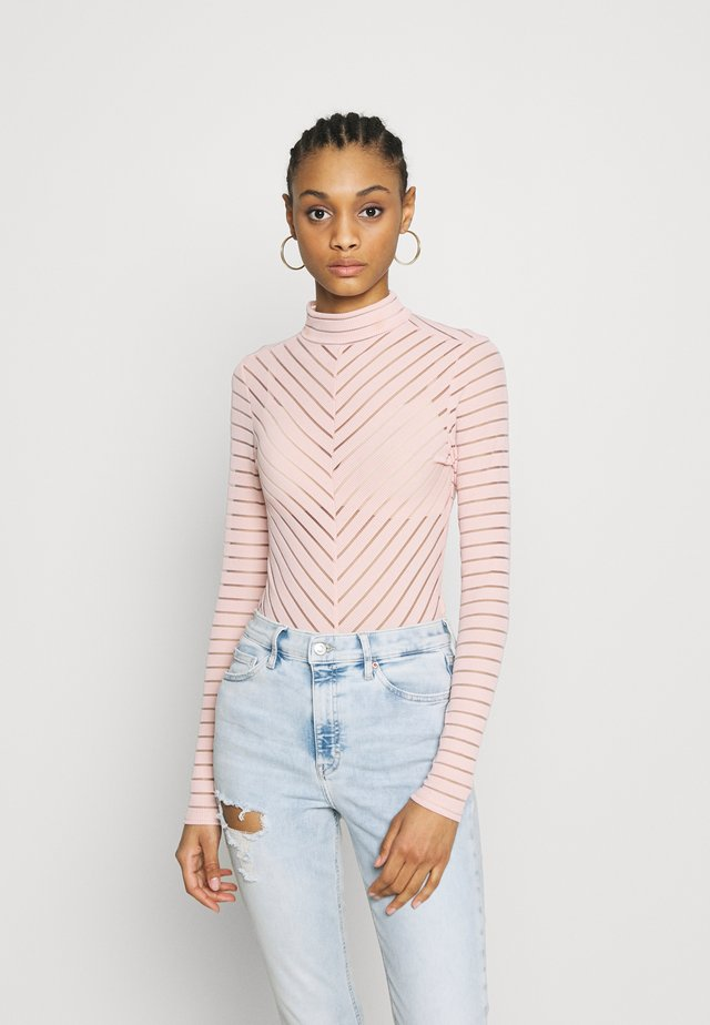 STRIPE - Maglietta a manica lunga - mid pink