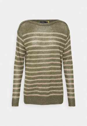 TEXTURE - Jumper - olive/natural