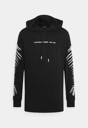 T-JUST-LS-HOOD-A6 MAGLIETTA UNISEX - Long sleeved top - black