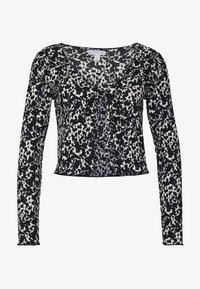 Topshop - ABSTRACT CRINKLE - Gilet - black - 3