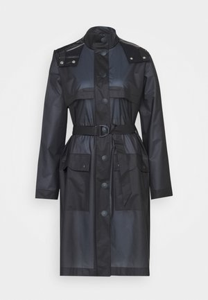 WOMENS REFINED PART PLEAT COAT - Waterproof jacket - navy
