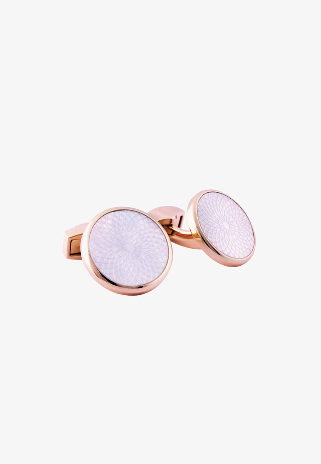 Boutons de manchette - white/ rose gold coloured
