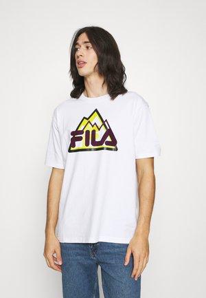 YORICK GRAPHIC TEE - T-shirt con stampa - bright white