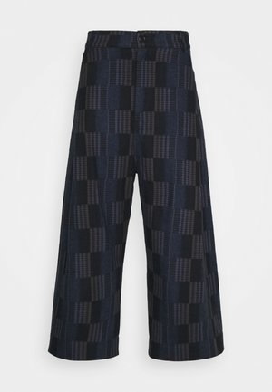 KEY PANTS MIXED CHECKS - Trousers - dark blue