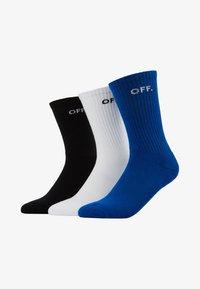 Mister Tee - OFF SOCKS 3 PACK - Ponožky - blue/black/white - 1