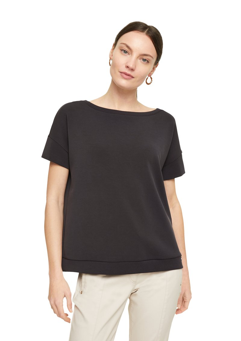 comma - Basic T-shirt - black