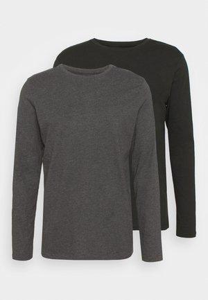 2 PACK - Long sleeved top - dark grey/black