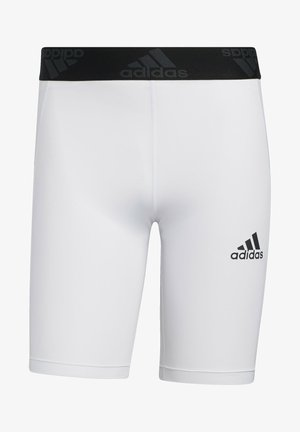 TURF TIGHT PRIMEGREEN TECHFIT WORKOUT COMPRESSION SHORT LEGGINGS - Krótkie spodenki sportowe - white