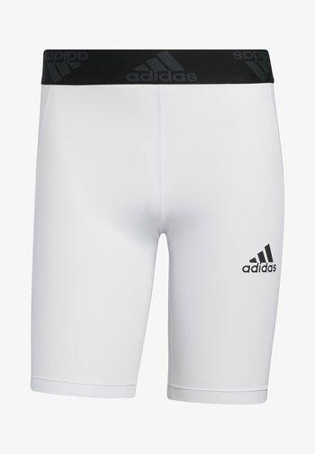 TURF TIGHT PRIMEGREEN TECHFIT WORKOUT COMPRESSION SHORT LEGGINGS - Sports shorts - white