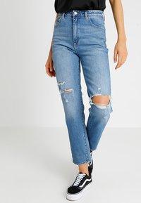 Abrand Jeans - HIGH - Slim fit jeans - blue denim - 0