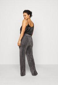 Vero Moda Curve - VMKAIDACOCO WIDE PANT - Trousers - black/silver - 2