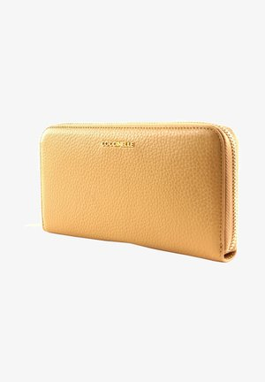 METALLIC SOFT ZIP AROUND - Wallet - camel