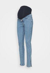 Missguided Maternity - WRATH SPLIT HEM - Slim fit jeans - blue - 0