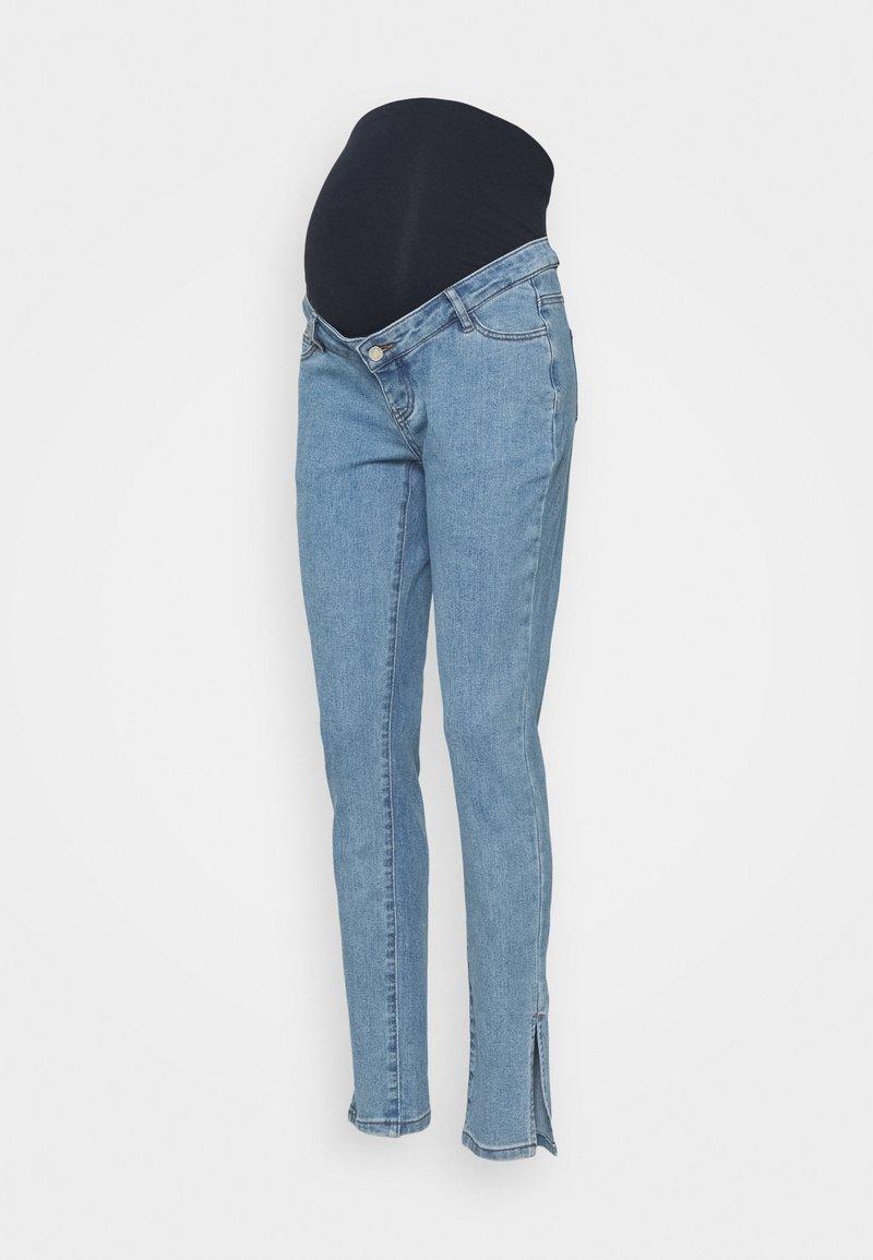 Missguided Maternity - WRATH SPLIT HEM - Slim fit jeans - blue